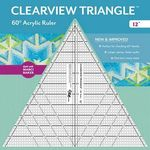 """12"""" Clearview Triangle Ruler"""