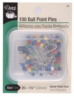 Pins, Ball Point, 100 ct