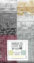 Benartex Strippie, Words to Live By, 40 ct