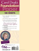 Carol Doak�s Foundation Paper, 100 sheets