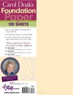 Carol Doak�s Foundation Paper, 100 sheets