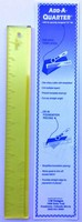"Add-A-Quarter 12"" x 1.5"" Yellow Ruler"