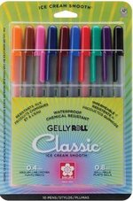 Gelly Roll Medium 10 Color  Set