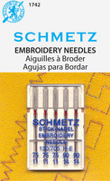 Schmetz Embroidery Needle Assortment