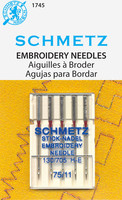 Schmetz Embroidery Needle, 11/75