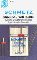 Schmetz Universal Twin Needles, 6.0/100