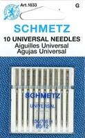 Schmetz Universal Needles, 12/80 - 10/card