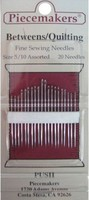 Betweens/Quilting Needles, Size 5/10