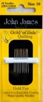 John James Gold'n Glide Quilting, Size 10