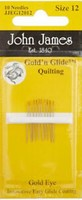 John James Gold'n Glide Quilting, Size 12