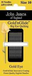 John James Gold'n Glide Big Eye Quilting, Size 10