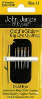 John James Gold'n Glide Big Eye Quilting, Size 11